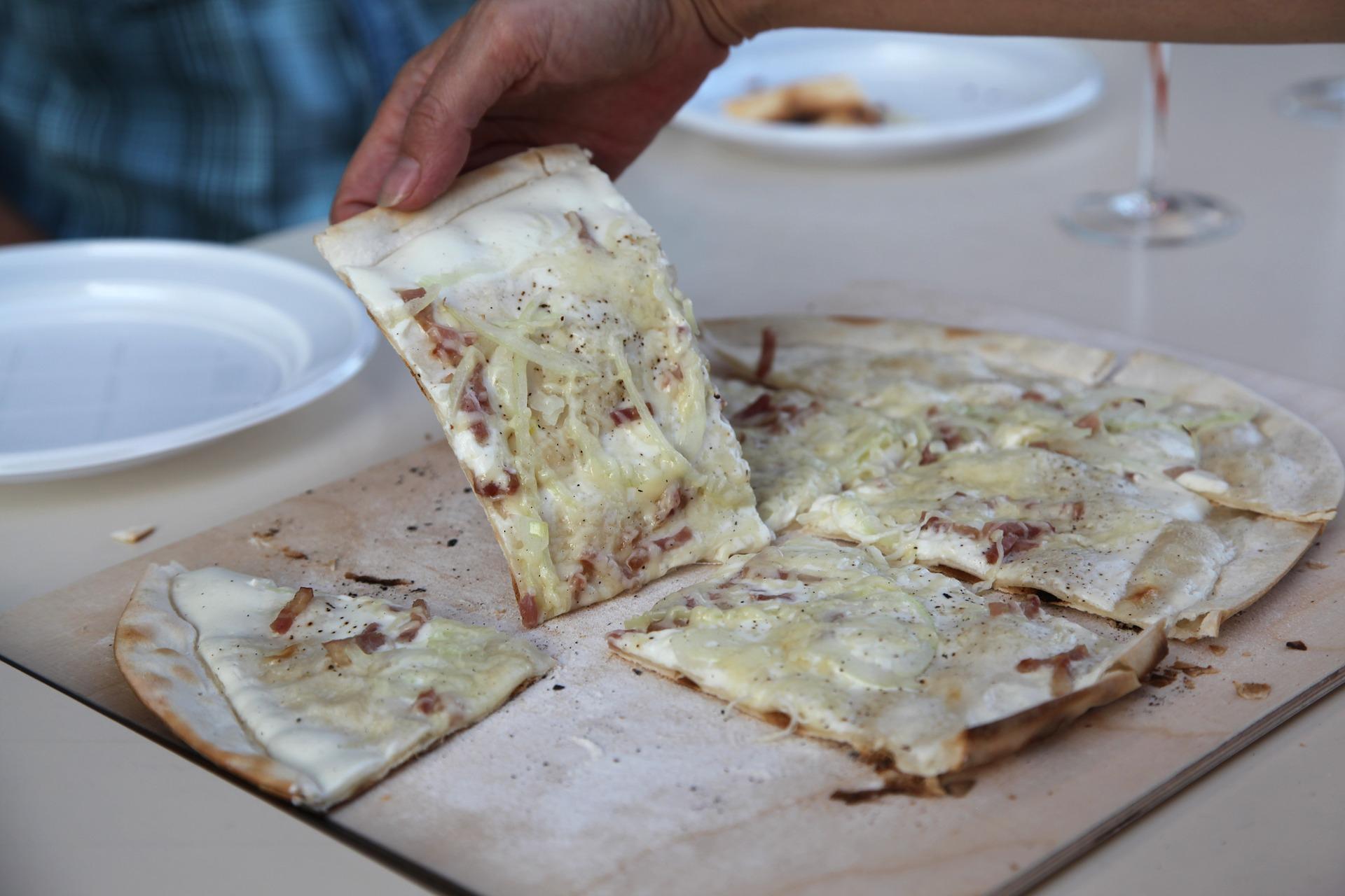 La tarte flambée, le classique pour un restaurant traditionnel sur Colmar