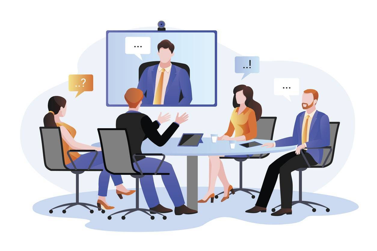 visioconférence conversation professionnelle avocat